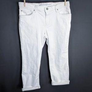 Eddie Bauer Jeans Size 10 White Womens Boyfriend